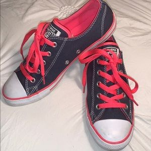 Pink and Blue Converse shoes size 7